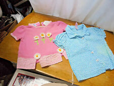 LOTOF 2 GIRL'S SIZE 12 MONTHS TOPS  ONE PINK  ONE BLUE