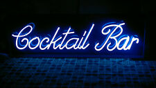 Cocktail Bar Neon Sign - Light Blue - Man Cave - Pub - Bar - Eatery - Restaurant