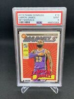 2019 Panini Donruss Net Marvels Lebron James PSA 9 Low Pop Rare