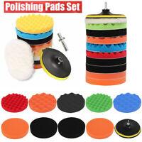 11Pcs 7'' 180mm Waxing Buffing Polishing Sponge Pads Car Polisher Tools UK