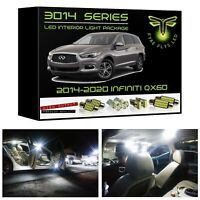 White LED interior lights kit package for 2014-2020 Infiniti QX60 3014 SMD +Tool