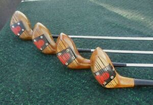 Vintage MacGregor Tommy Armour AT2W Persimmon 1, 3, 4 & 5 Woods