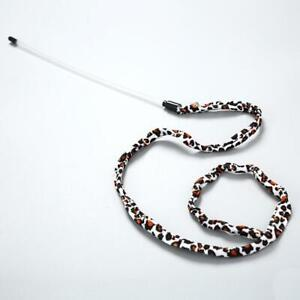 (W021) Cat Kitten Teaser Wand Toy Leopard Print Tail