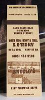 Rare Vintage Matchbook Cover E2 California Camarillo Angelo's Place For Ribs