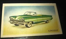 1956 LINCOLN Convertible  - Van Melle Biscuits BELGIUM Trade Swap Card - RARE !