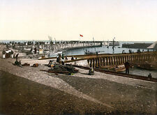 Vintage Edwardian Seaside Photochrome Photo Reprint Bridlington 4 A4