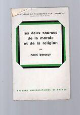 conles deux sources de la morale et de la religion par henry bergson