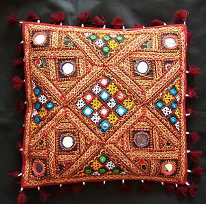 """Indian Handicrafts Vintage Traditional Throw Cushion Covers Elephant 16"""" X 16"""""""