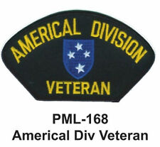 """AMERICAL DIV VETERAN Embroidered Military Large Patch, 4"""""""