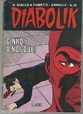 DIABOLIK ORIGINALE ANNO XIV  n°  18  -  1975  - RARO  - [ rif DK TO ]