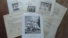 PROGRAMME  BALLETS NATIONAUX YOUGOSLAVES 1952