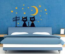 00786 Wall Stickers Sticker Adesivi Muro Murali Gatti sul tetto 120x74 cm