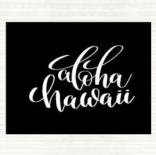 Noir Blanc Aloha Hawaii Citation Mouse Mat Pad