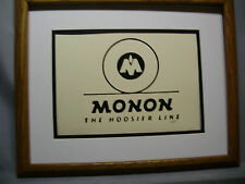 Monon the Hoosier Line  Railroad logo by Howard Fogg