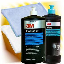 3M Hochglanz Politur 09376 + Finesseit Schleifpaste 09639 + Mikrofaserpoliertuch
