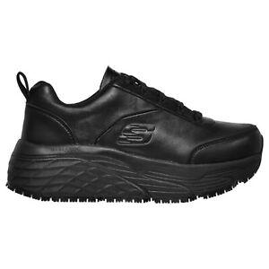Women's Skechers 108015 Max Cushioning Elite SR Kajus Work Shoes Black