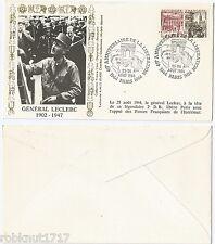 ENVELOPPE aout 1944-1984 40e Anniversaire Libération GENERAL LECLERC [945 R]