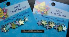 Dyed Mother of Pearl shell 14mm STAR charms with jump rings 18pcs CP027
