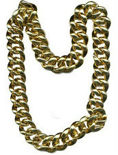 "36"" Thick Gold Chain Necklace Pimp Gangster Hip Hop 80's Mr T"