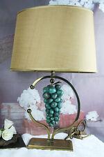 Mid-century 60's Amethyst stone grapes Table lamp daro Jansen era brass retro