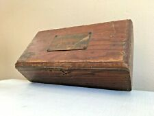 Antique JJ Meany Casket Company Funeral Coffin Etching Practice Supplies Box