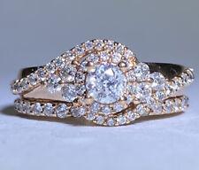 Wedding Ring Size 6 Appraisal $1975 10Kt Rose Gold 0.88Ct Diamond Engagement
