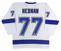 Victor Hedman Authentic Signed White Pro Style Jersey Autographed JSA
