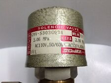 SAGINOMIYA GMV-S303GQ34 Oil Burner Solenoid Valve 3/8 In Normally Open 110V AC