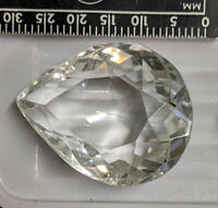 Large 47.1 carat 28.2x21.6mm WHITE TOPAZ Gemstone (#L6155)
