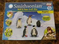 Smithsonian 174 Mold & Paint Craft Kit Penguins NWT Sealed USA Water Mix Magnets