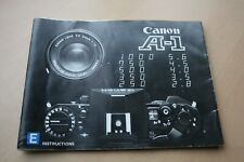 CANON A-1 INSTRUCTIONS - VERY GOOD CONDITION