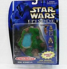 STAR WARS-EPISODIO I-SERIE Micro Machines MINI SCENE 1 con 2 FIGURE-ORIG. HASBRO