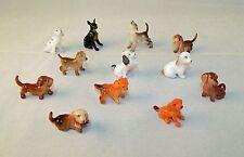 Vintage 1960's Minature Plastic Dog Charms - Set of 12