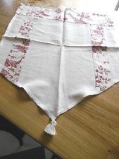 "Vintage Lin Délavé Rambling Rose rose//rouge 140cm//54/"" rideau//Craft Tissu"