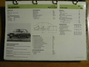 AUDI 80 1978-1980 INFO TECHNICAL INFORMATION CAR AUTO  ONE PAGE OLY005