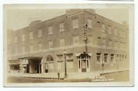 RPPC Photo Postcard Hotel Hudson Wisconsin 1931 Cancel PM