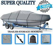GREY BOAT COVER FOR TIDECRAFT WILDFIRE 120 DC O/B 1998 1999