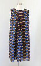 Anna Sui Target 20th Anniversary Collection Metallic Circles Shift Dress Retro M
