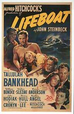 Lifeboat, Alfred Hitchcock Movie Film Image USA John Steinbeck - Modern Postcard