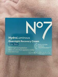 No7 HydraLuminous Water Surge Gel Cream 1x50ml Drier Skin Hydration NEW