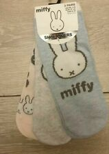 Primark Miffy Bunny Ladies Girls Shoe Liners Socks 3 Pairs Pack 4-8 New