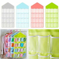 16 Pockets Clear Over Door Hanging Bag Shoe Rack Hanger Storage Organizer