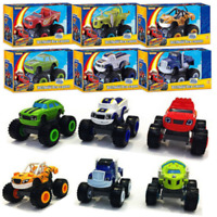 6Pcs Blaze and the Monster Machines Vehicles Plastic Toys Racer Cars Trucks Kids