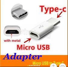1 Adaptateur Micro USB Femelle Vers / à USB 3.1 Type C Mâle  Blanc