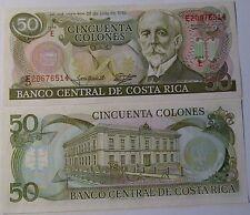 "BILLETE ""   COSTA RICA     ""  50 COLONES  1993  UNC    PLANCHA"