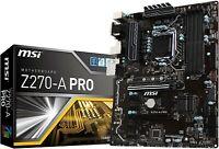 MSI Pro Intel Z270 ATX Motherboard (Z270-A PRO) + Intel Celeron G3930 2.9Ghz CPU