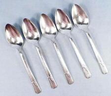5 Grenoble Silverplate Teaspoons Heirloom Plate Prestige 1938 Flatware Teaspoon