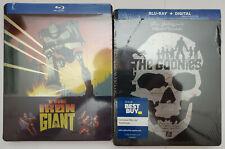 The Goonies (Blu-ray, no digital) + The Iron Giant (Blu-ray) 2x Steelbooks