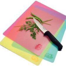 Norpro Cutting Board Flexible Mats Set of 3 Red Yellow Blue