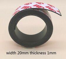 Magnet 1m Rubber Tape 20x1mm Long 3m Self Adhesive Flexible Strip Garage Tools